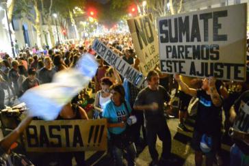 Proteste in Buenos Aires gegen die Politik der Regierung Macri am vergangenen Freitag