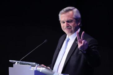 """Zeigt sich siegessicher: Alberto Fernández. Kandidat der """"Frente de todos"""" (Bündnis von Allen) gegen den amtierenden Präsidenten Mauricio Macri an"""