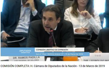 Bundesrichter Ramos Padilla berichtete vor der Kommission für Meinungsfreiheit im argentinischen Abgeordnetenhaus