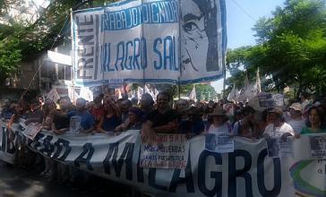 """""""FReiheit für Milagro"""": Am Mittwoch fanden sich spontan Demonstranten in Buenos Aires zusammen, um gegen das Urteil zu protestieren"""