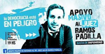 """""""Die Demokratie ist in Gefahr"""": Demonstrationsaufruf zur Unterstützung von Bundesrichter Ramos Padilla"""