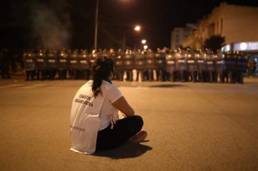 Großaufgebot mit Bundespolizei und Militär gegen die Demonstration zum Abschluss des 33. Frauentreffens