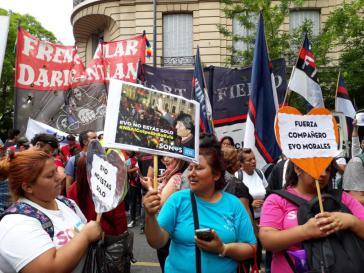 Demonstration gegen den Putsch