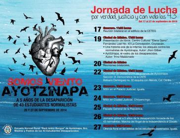 Noch bis zum 27. September findet eine globale Protestaktion gegen das Verschwindenlassen der 43 Lehramtsstudenten aus Ayotzinapa statt