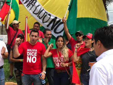 Protestierende gegen die erneute Wiederwahl von Präsident Evo Morales in Bolivien