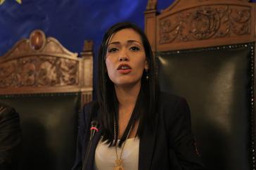 Weist die Initiative der US-Senatoren als Einmischung in innere Angelegenheiten zurück: Boliviens Senatspräsidentin Adriana Salvatierra