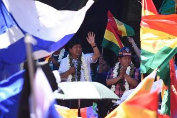 Evo Morales gewinnt Präsidentschaftswahl in Bolivien