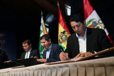 Absichtserklärungen für den Verkauf von bolivianischem Erdgas in den Süden Perus und an Shell Argentina wurden unterzeichnet