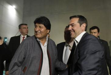 Boliviens Präsident Morales und Griechenlands Premierminister Tsipras trafen in Athen zusammen