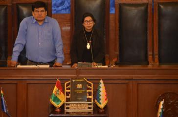 Mónica Eva Copa wurde am Donnerstag mit den notwendigen Stimmen zur neuen Senatspräsidentin von Bolivien gewählt