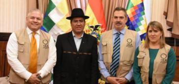 Da war noch alles okay: OAS-Wahlbeobachter mit Boliviens Außenminister Diego Pary im Januar dieses Jahres