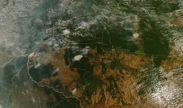 Brandherde im Amazonasgebiet in Brasilien