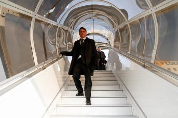 Jair Bolsonaro bei seiner Ankunft in der Schweiz