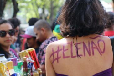 Protest von Frauen gegen Jair Bolsonaro. Außenminister Maas eröffnete nun ein Frauennetzwerk