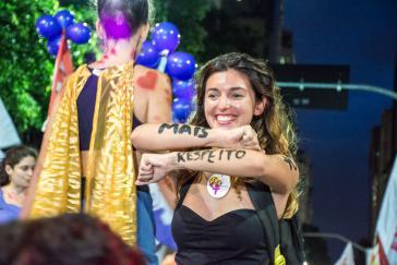 """""""Mehr Respekt"""": Demonstration für Frauenrechte in Brasilien"""