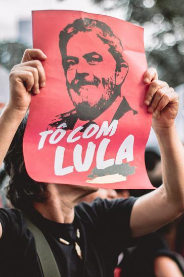 Anhänger von Lula protestiert in Brasilien
