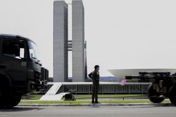 Das Regierungsviertel in der Hauptstadt Brasília war seit Tagen von Militär besetzt