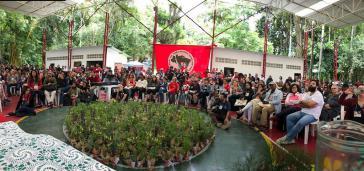 Beim Jahrestreffen der Freunde der MST in der Bundesschule der Bewegung Florestan Fernandes (ENFF)