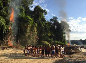 Setzt sich gegen Holzfäller zur Wehr: die indigene Gemeinschaft der Munduruku