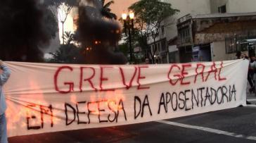 """""""Generalstreik zur Verteidigung der Altersversorgung"""" in Brasilien"""