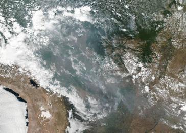 Aufnahme der NASA zeigt das Ausmaß der Waldbrände im Amazonas