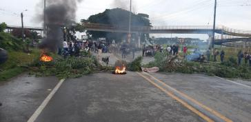 Blockaden im Süden von Kolumbien