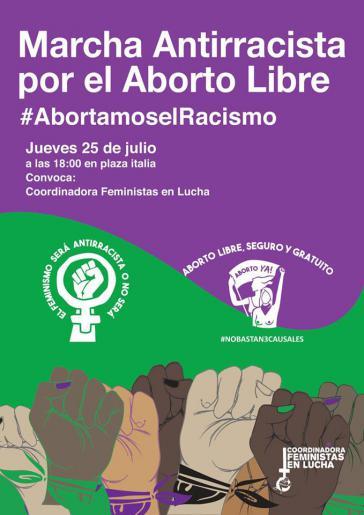 Aktuell mobilisiert die Frauenbewegung zu einer antirassistischen Demonstration für freie Abtreibung am 25. Juli