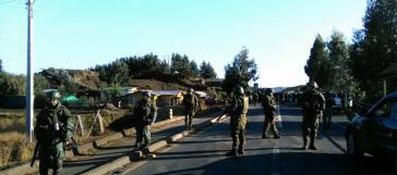 Einer von zahllosen Einsätzen der Carabineros gegen die Mapuche-Gemeinde María Colipi Viuda de Maril in der Kommune Tirúa