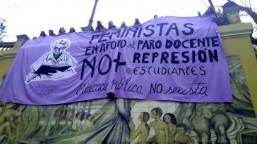 Die Frauenbewegung unterstützt den seit April anhaltenden Streik der Lehrkräfte