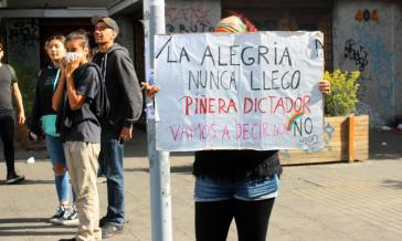 Demonstranten am Samstag in Santiago
