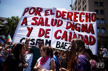 Das Recht auf hochwertige und würdige Gesundheitsversorgung ist eine zentrale Forderung der Streikenden
