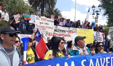 Auch in Temuco in Südchile beteiligten sich Tausende am Streik