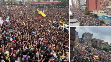 Demo-Konzert von letztem Sonntag in Bogotá