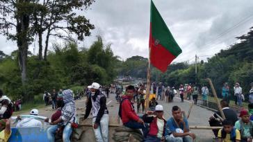 Mit Blockaden zentraler Straßen soll der Druck auf Präsident Duque erhöht werden, direkte Verhandlungen mit den Streikenden zu führen
