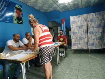 Wahllokal in La Ceiba im Stadtteil Playa von Havanna