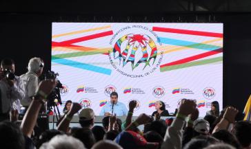 Maduro bei der Asamblea im Februar in Caracas