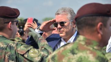 Iván Duque hat letzte Woche seine Sicherheits- und Verteidigungspolitik in der Militärbasis Tolemaida vorgestellt