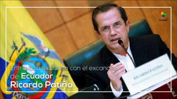 Der ehemalige Außenminister von Ecuador, Ricardo Patiño, äußerte sich in mehreren Interviews zu dem gegen ihn erlassenen Haftbefehl