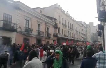 Proteste in Quito gegen neolliberale Politik in Ecuador