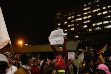 Protest gegen Repression in Quito, Ecuador