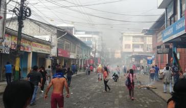 In Puyo, der Hauptstadt der Provinz Pastaza, kam es nach Zeugenaussagen zu Schusswaffengebrauch gegen Demonstranten