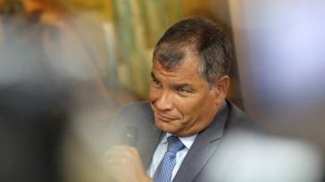 Ex-Präsident von Ecuador, Rafael Correa, in seiner Sendung bei RT