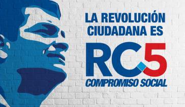 Kampagnenplakat der Revolución Ciudadana