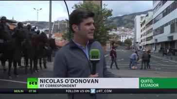 """RT-Korrespondent O'Donovan in Ecuador: """"Live-Berichterstattung auffällig"""""""