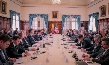 """Vertreter beider Regierungen kamen beim """"Treffen zur Erweiterung des bilateralen politischen Dialogs Ecuador-USA"""" vergangene Woche in Quito zusammen"""