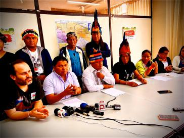 Vertreter des Dachverbandes Confeniae geben eine Pressekonferenz