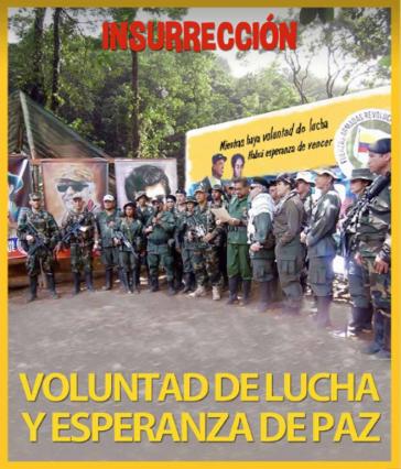 """Das Titelbild der gestern veröffentlichten ELN-Zeitschrift zeigt die Farc-EP: """"Willen zum Kampf und Hoffnung auf Frieden"""""""