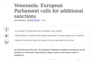 Das EU-Parlament fordert verschärfte Sanktionen gegen die Regierung in Venezuela