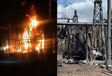 Die Transformatoren im Guri-Kraftwerk, die zu Beginn der Woche in Brand gesetzt worden sein sollen