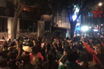Frauendemonstration am Freitag in Mexiko-Stadt (Screenshot)